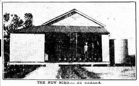 The new school at Uralba 1920s