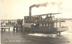 A River Boat at Ballina about 1920s_Ball