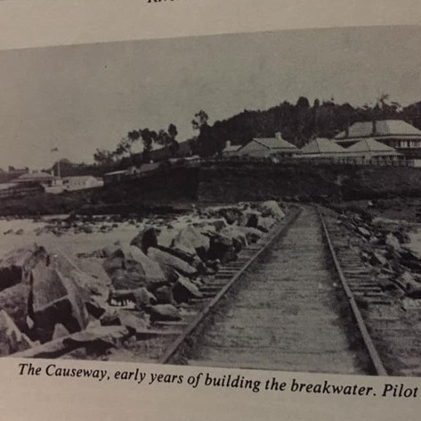 The Causeway - early days of building the breakwalls