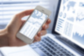 Investor analyzing stock market investme