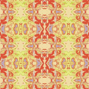 Fantasia Wallpaper in Tiger Lily