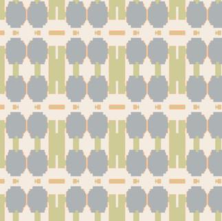 Barbells Wallpaper in Pale Green