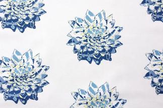 Big Floral in Bold Blue