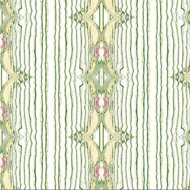 Antique Silk Wallpaper in White Green