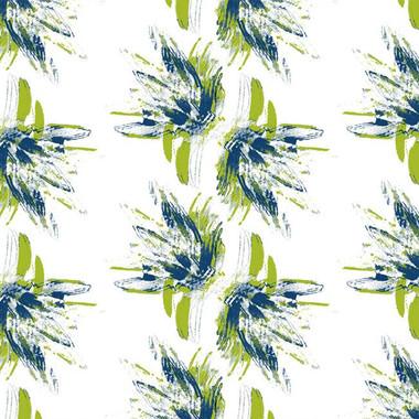 Flower Power Wallpaper in Blue Limoges