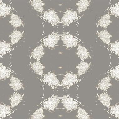 Cosmic Mums Wallpaper in Mounring Dove