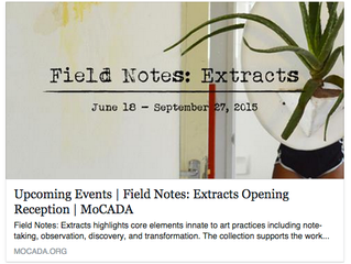 Field Notes at MoCADA