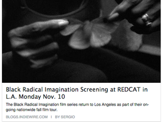 Field Notes at REDCAT in Los Angeles Nov 10 - Indiewire