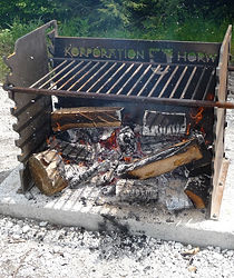 Grill vandalensicher aus Stahlblech