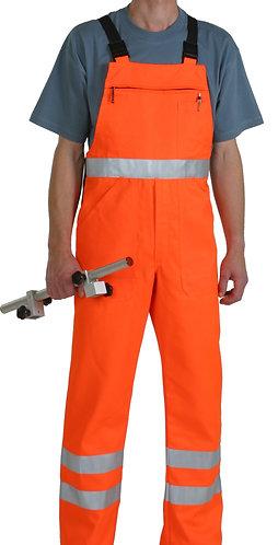 Warnschutzlatzhose orange mit Leuchtstreifen