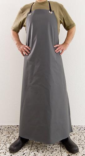 Waschschürze grau / Länge: 125cm