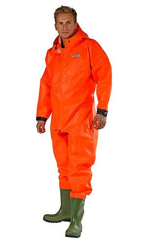 OCEAN Waschoverall mit Gummistiefeln wasserdicht orange