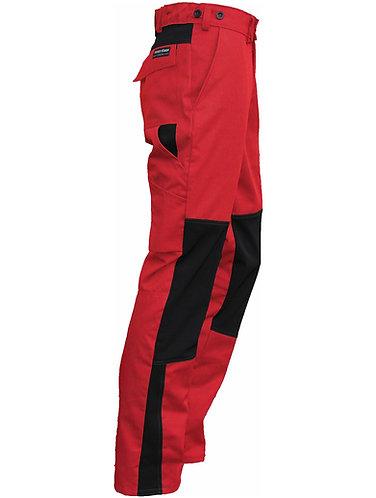 Arbeitshose STRETCH rot-schwarz