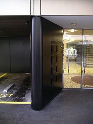 Eingangsportal Blech gerundet