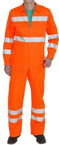 Warnschutzkombi orange mit Leuchtstreifen