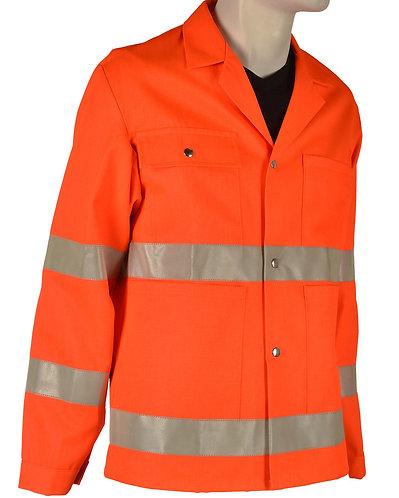 Warnschutzjacke orange mit Leuchtstreifen