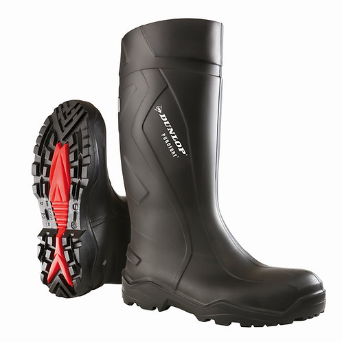 Dunlop Purofort+ full-safety Gummistiefel schwarz (S5 Sicherheitsstiefel)