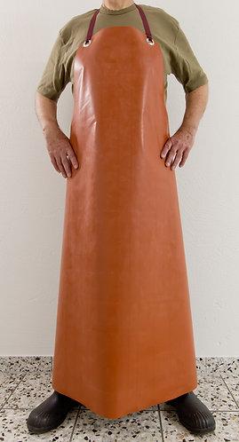 Gummischürze rot-braun / Längen: 110/120/130cm