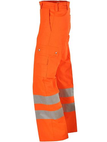 Warnschutzhose orange mit Leuchtstreifen