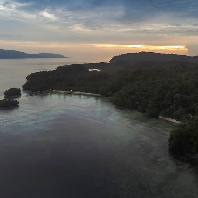 Sunset on Gam Island, Raja Ampat.