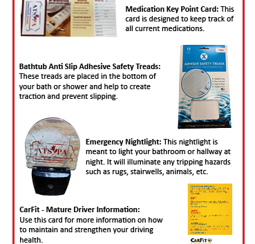Falls Prevention Bag Rack Card Page Two.