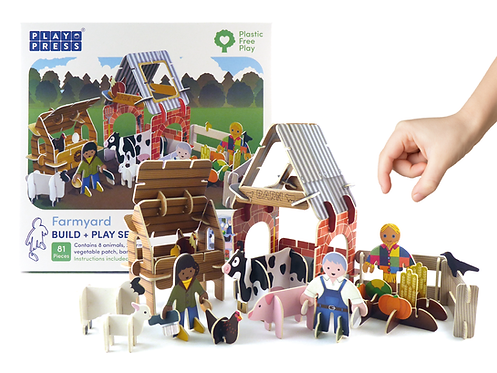 Eco Farmyard Pop-out Playset