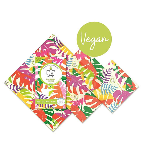 BeeBee Wraps - Vegan Leaf - The Mix Size pack