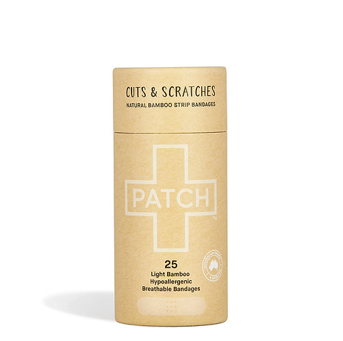 Patch Bamboo Plasters - Cuts & Scrapes Natural