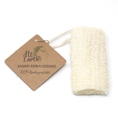 Natural Loofah Scrub on Rope - 5""