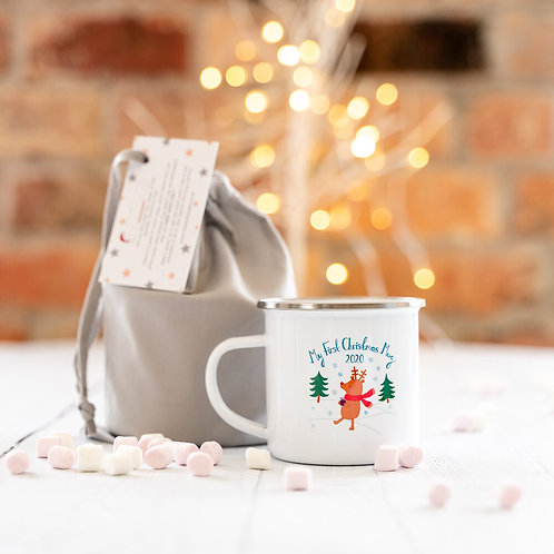 My First  Christmas 2020 Enamel Mug - Ruby & Freddies