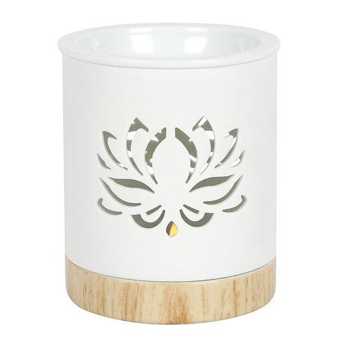 White Lotus Oil Burner