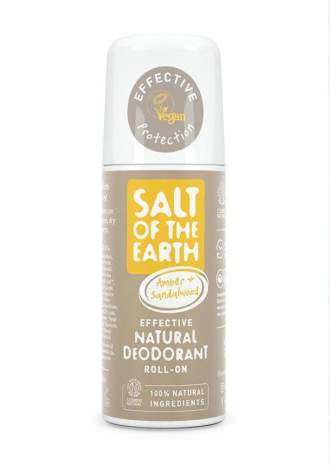 Salt of the Earth - Amber & Sandalwood Natural Roll-On Deodorant