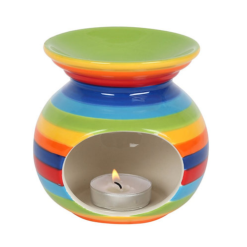Rainbow Stripes Oil Burner