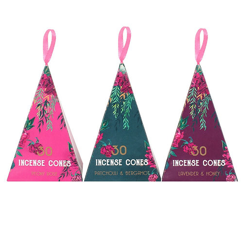Luxurious pack of 30 incense cones