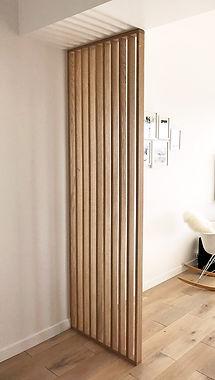 claustra bois sur mesure gallishop designer d'espace
