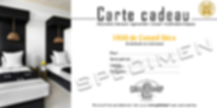 carte cadeau coaching deco