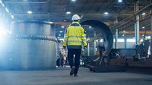 Industrial Engineer in Hard Hat Wearing