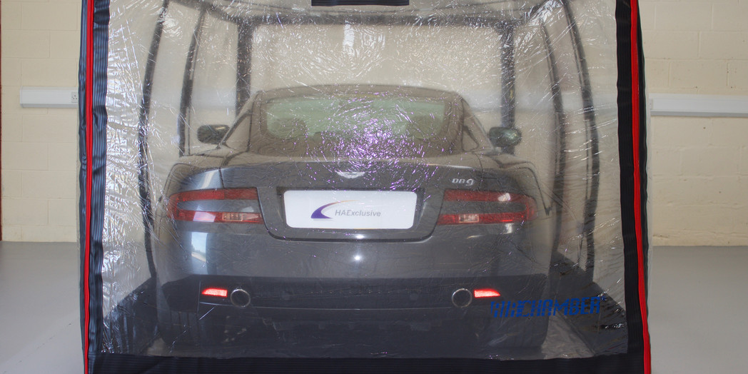 Aston Martin in one of our air chambers