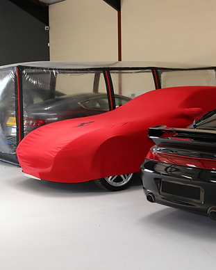 Cars in storage facility