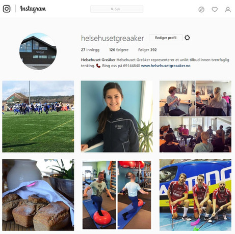Lik og følg oss på Facebook og Instagram