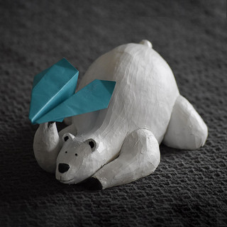 Sculpture - Oto l'ours blanc