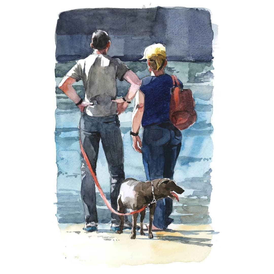 Couple et leur chien
