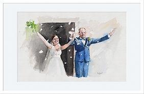 Cadeau Mariage aquarelle