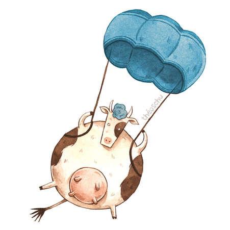 Vache parachutiste