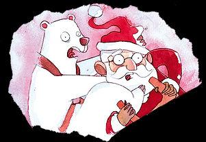 Oto l'ours blanc et le père noël