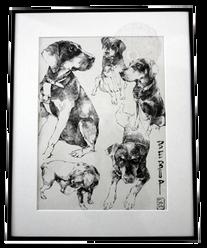 Cadre dessin chien