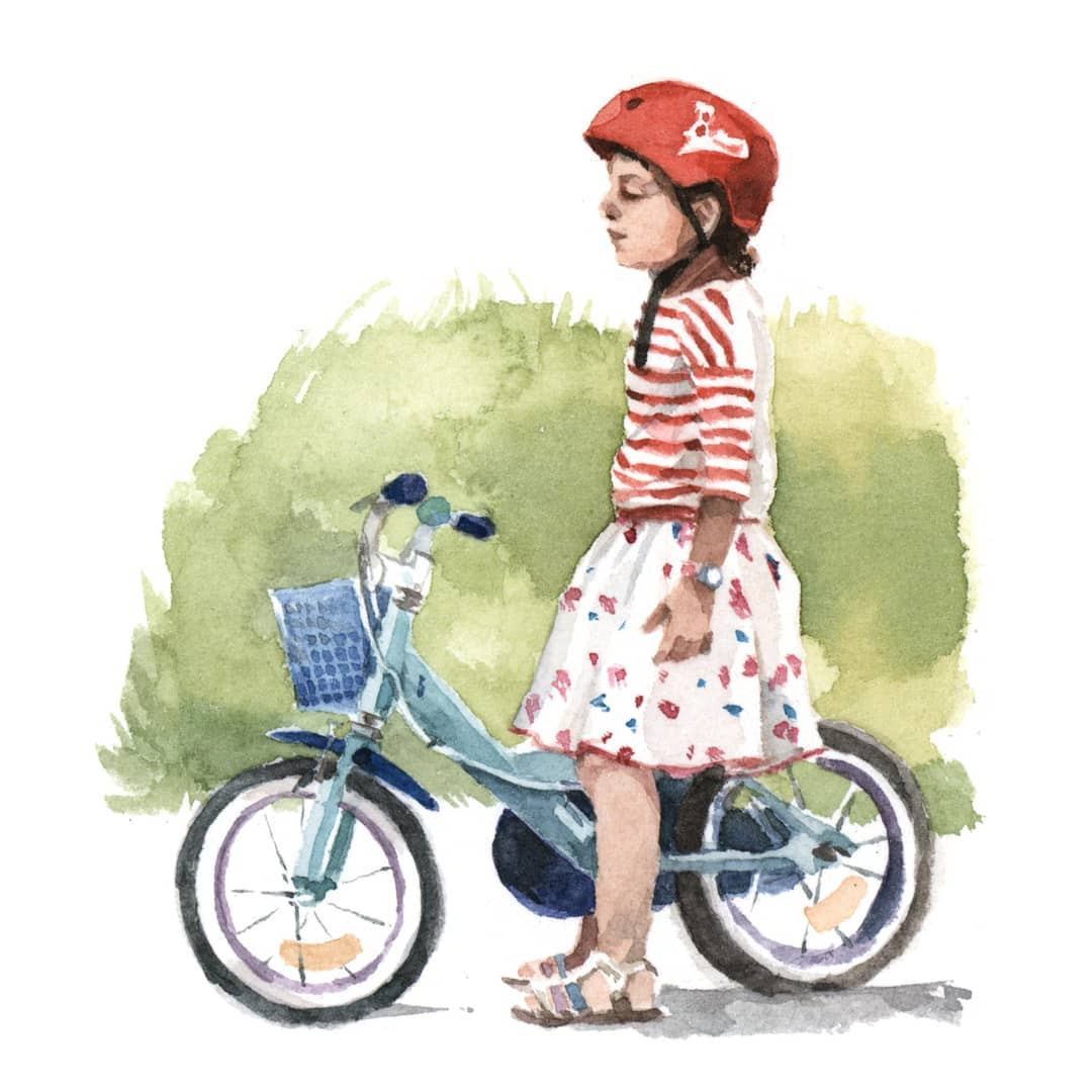 Petite fille vélo