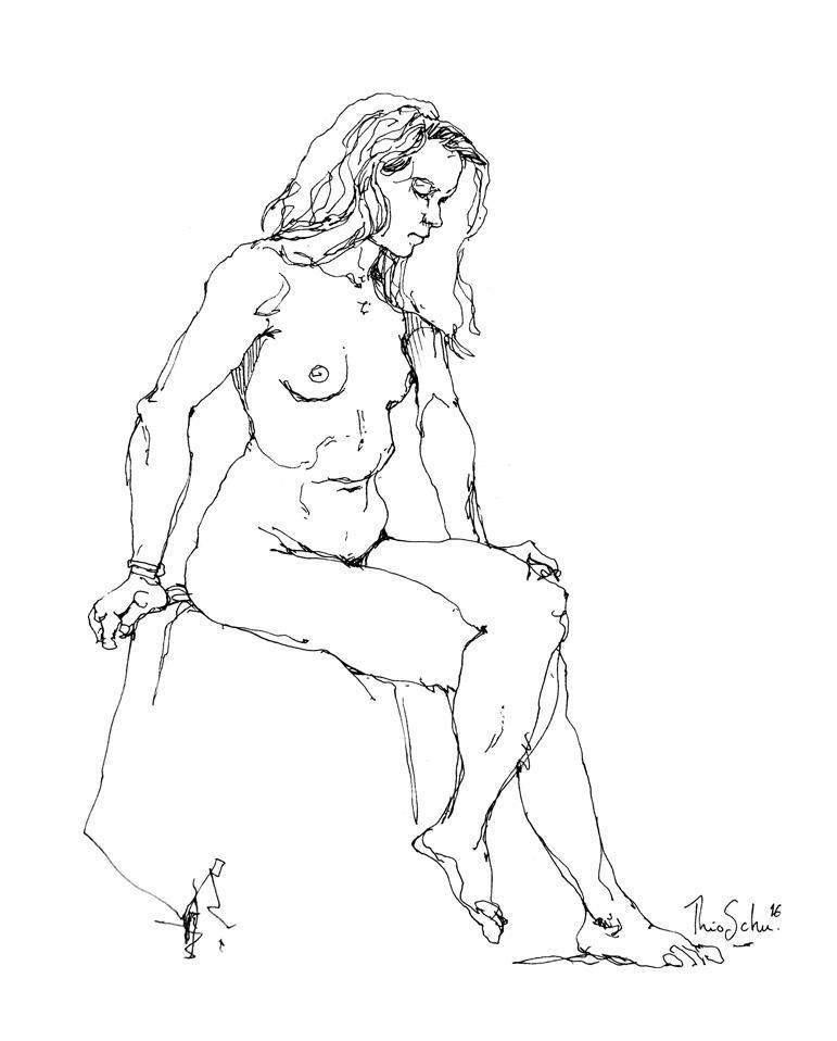 Modèle nue - Alexandra