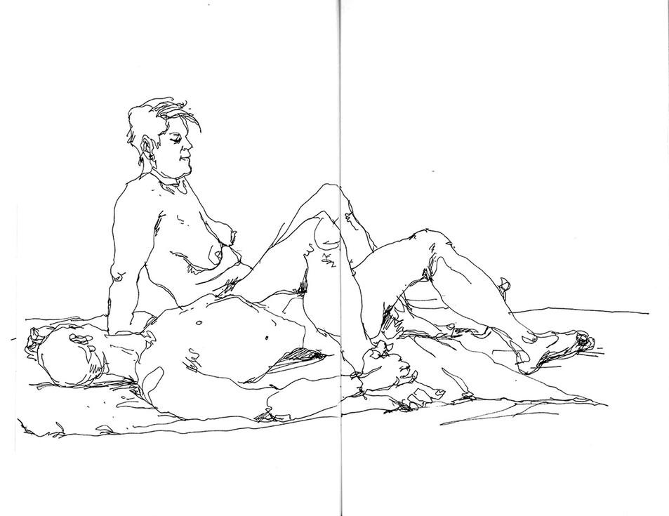 Modèles nus - Damien et Edwige
