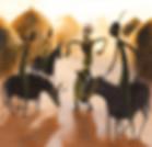Illustration conte africain jeunesse